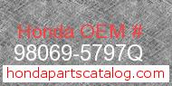 Honda 98069-5797Q genuine part number image