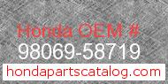 Honda 98069-58719 genuine part number image