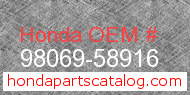 Honda 98069-58916 genuine part number image