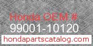 Honda 99001-10120 genuine part number image